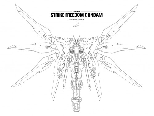 Strike freedom HiMat line-art vector