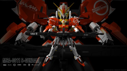 S-Gundam 3D model wallpaper