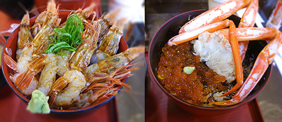 Seafood dons at Kinosakionsen