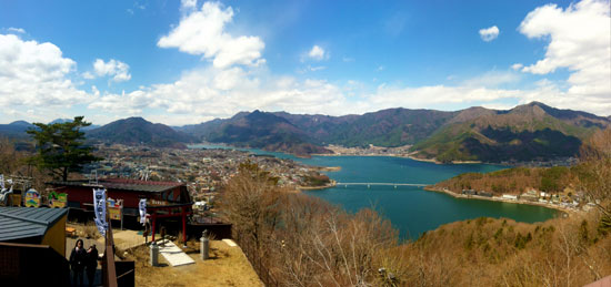 Lake Kawaguchiko panorama