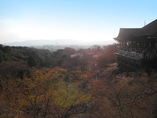 Kyomizudera looking back at Kyoto