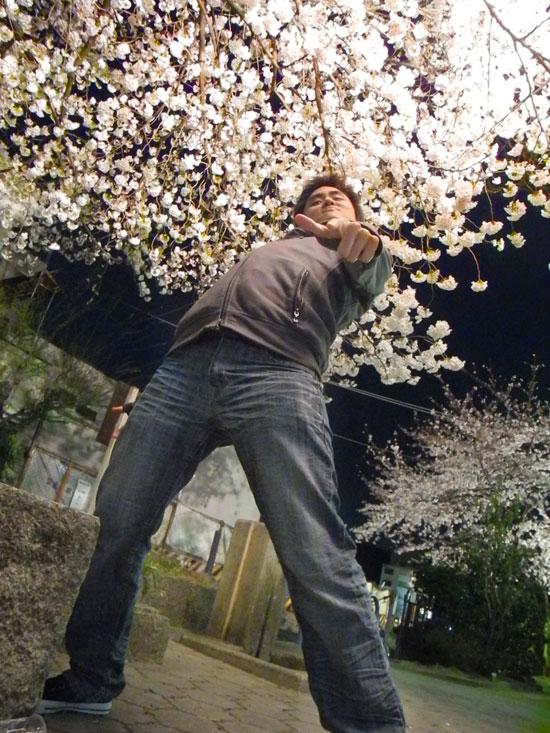 Super extreme cherry blossom pose!