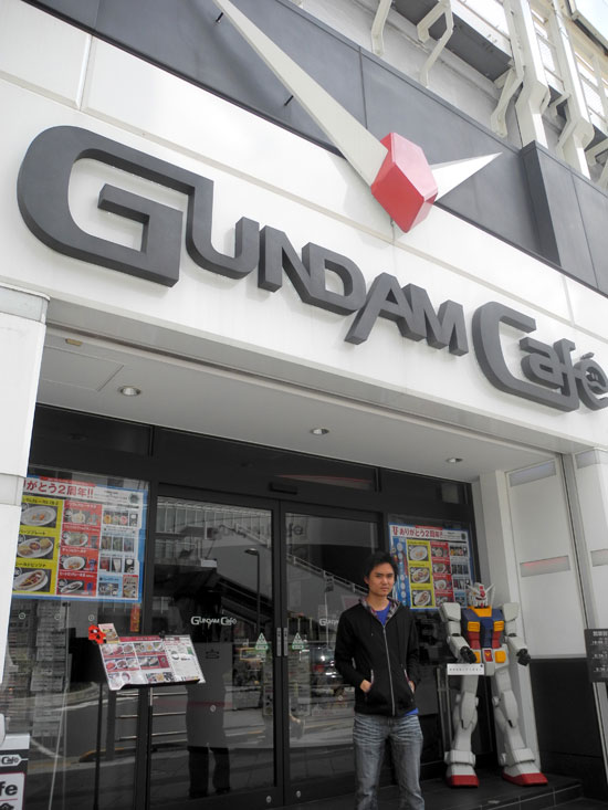 Gundam Cafe entrance