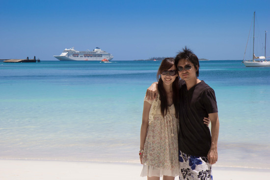 And here's a shot with our ship all the way out at sea