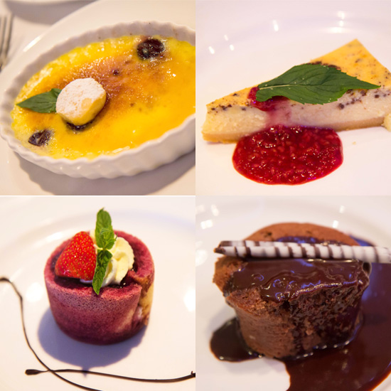 Desserts on the Pacific Pearl