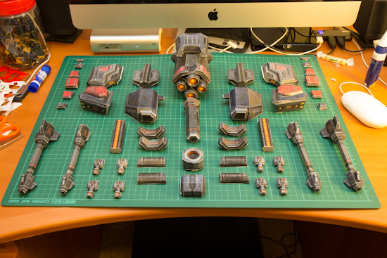 Battlecruiser papercraft-35