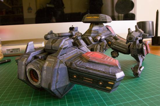 Battlecruiser papercraft complete